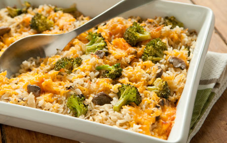 Broccoli, Rice and Cheese Casserole - Quick Vegetable Casserole